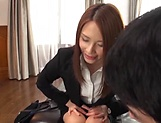 Arousing Asian mature babe creamed in office sex picture 15