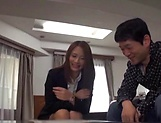 Arousing Asian mature babe creamed in office sex