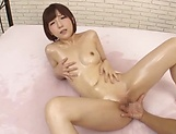 Sultry vixen flaunts oiled body and gets steamy fuck picture 92