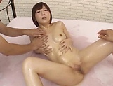 Sultry vixen flaunts oiled body and gets steamy fuck picture 94