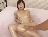 Sultry vixen flaunts oiled body and gets steamy fuck picture 95