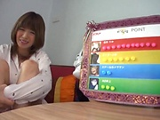 Hoshimi Rika ,puts her big tits to use