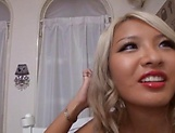 Hot Japanese barbie gets a worthy creampie picture 13