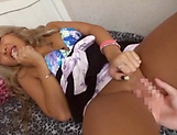 Hot Japanese barbie gets a worthy creampie picture 60