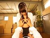 Asian hottie Ootori Kaname cannot stop riding the big pecker