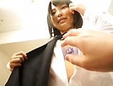 Big tits AV model from Japan enjoys titfucking and doggy-style bang picture 15