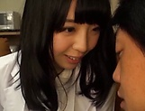 Lusty Japanese nurse strips for a blowjob and deep pounding picture 14