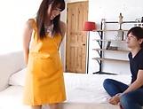 Hot milf Shirose Mio in raunchy blowjob scene indoors