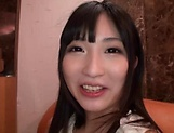 Cute Asian babe sucks cock before a doggy picture 12