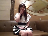 Amateur Asian vixen gets her big teased teased with  indoors picture 12