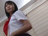 Sexy schoolgirl Aya Akiyama worthwhile strip tease