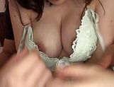 Voluptuous Japanese milf Kaise Anju swallows a big load of cum picture 43