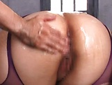 Pretty Asian chick Hana Yurino enjoys steamy threesome picture 12