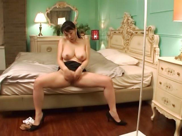 Naughty milf has her shaved pussy slammed