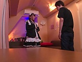 Sweet Japanese maid likes to suck cock picture 13