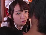 Sweet Japanese maid likes to suck cock picture 15