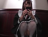 Sweet Japanese maid likes to suck cock