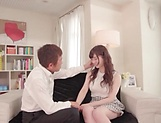 Busty stunner Satsuki Towa gets her pink pussy creampied