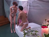 Curvy Aine Maria in raunchy massage action