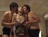 Nice Tokyo hottie in nylon stockings gets pussy pleasured