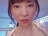 Naughty Asian AV model Satsuki Towa plays hardcore in mmf picture 12