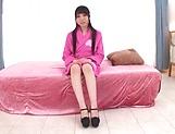 Japanese teen brunette loves threesomes