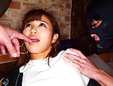 Asian teen girl Akiyoshi Kanon gets her shaved pussy creampied