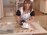 Sweet maid Rika Hoshimi is a true cock sucker and pleaser