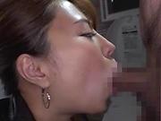 Crazy Japanese cock sucker Kururugi Mikan boasts of her oral skills