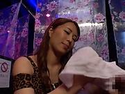 Elegant Japanese AV babe Kururugi Mikan giving an awesome blowjob