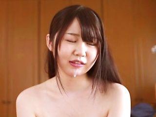 AV hottie Satou Yuka tempts a sexy guy and sucks his cock insanely