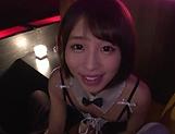Eye-catching Asian teen Oto Sakino gives a blowjob in pov