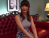 Busty Japanese MILF Hara Kanon takes off her mask and clothes to get banged picture 14