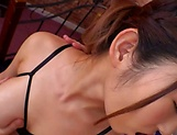 Curvy AV model Hara Kanon gets oiled up and banged hardcore picture 19