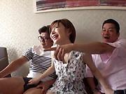 Voluptuous AV model Satomi Yuria gets gangbanged nastily