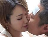 Asian hottie with a shaved pussy Kimijima Mio fucks insanely gets creamed