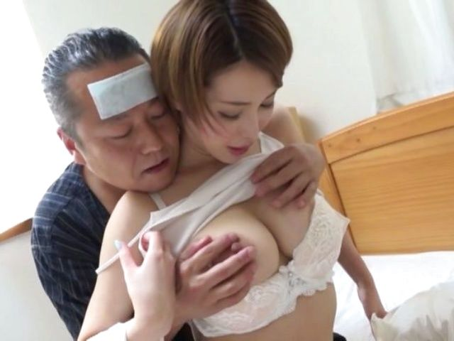 Asian hottie with a shaved pussy Kimijima Mio fucks insanely gets creamed
