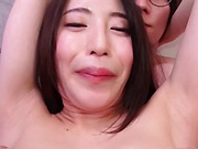 Adorable milf likes to get cum on tits
