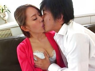 Horny Japanese milf craves for young cock in her cunt