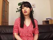 Sweet brunette got a creampie after sex