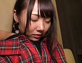 Hot Asian teen with small tits Kousaka Mirina gets pussy creampied picture 14