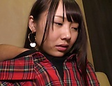 Hot Asian teen with small tits Kousaka Mirina gets pussy creampied picture 15