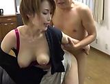 Naked Japanese milf Kimijima Mio fucked hard in the kitchen picture 111
