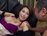 Naked Japanese milf Kimijima Mio fucked hard in the kitchen picture 129