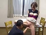 Naked Japanese milf Kimijima Mio fucked hard in the kitchen picture 40