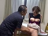 Naked Japanese milf Kimijima Mio fucked hard in the kitchen picture 41