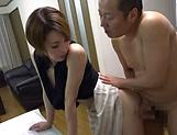 Naked Japanese milf Kimijima Mio fucked hard in the kitchen picture 64