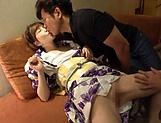 Active Japanese AV model Satomi Yuria fucks in a mmmf action